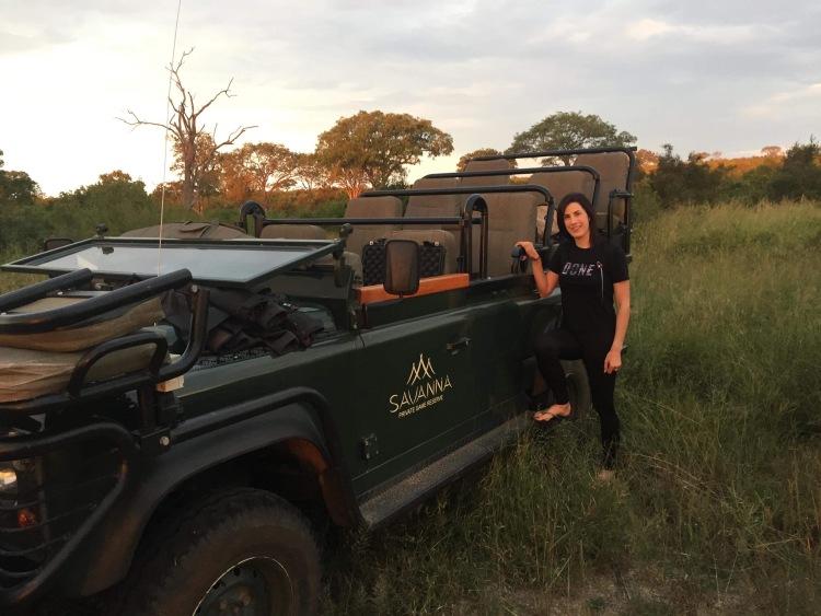 Drinks break on safari
