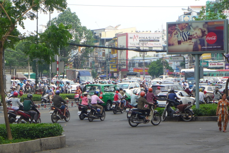 The roads of Ho Chi Minh