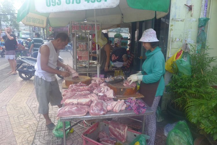 fresh meats on the streets of Ho chi minh city food journey